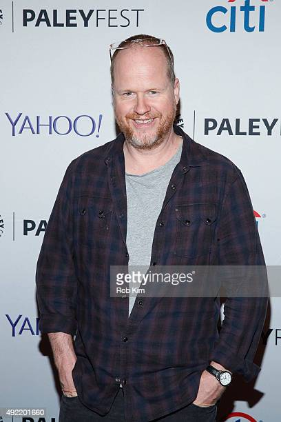 Director Joss Whedon attends 'Dr Horrible's SingAlong Blog Reunion' during PaleyFest New York 2015 at The Paley Center for Media on October 10 2015...