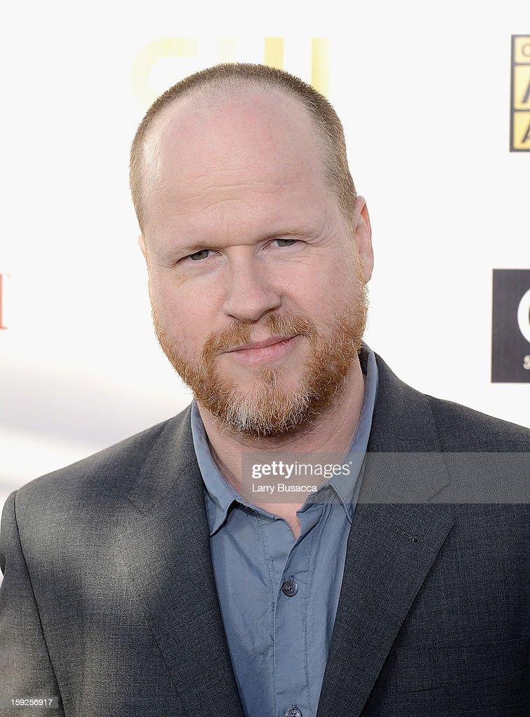 Director Joss Whedon attends the 18th Annual Critics' Choice Movie Awards held at Barker Hangar on January 10 2013 in Santa Monica California