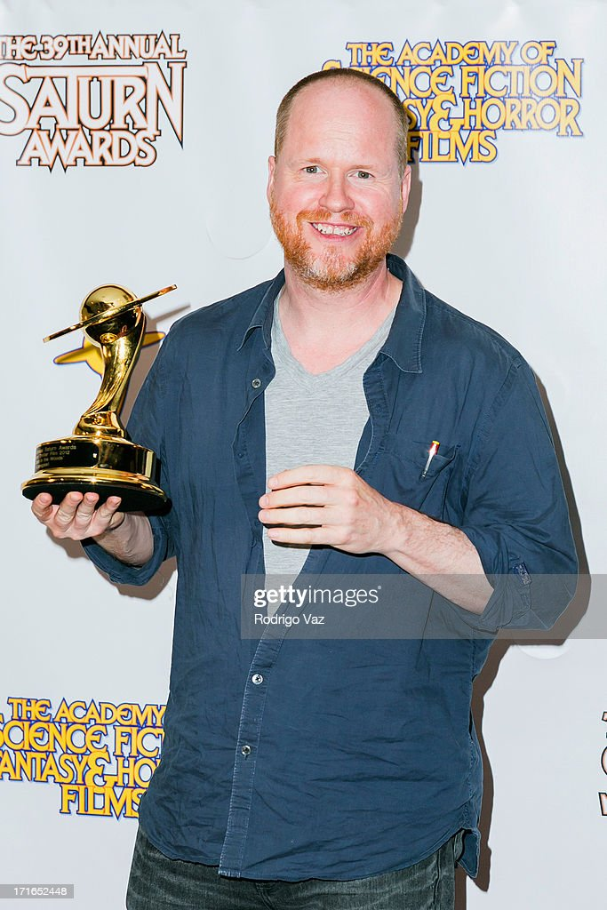 Director <a gi-track='captionPersonalityLinkClicked' href=/galleries/search?phrase=Joss+Whedon&family=editorial&specificpeople=2212235 ng-click='$event.stopPropagation()'>Joss Whedon</a> attends the 39th Annual Saturn Awards at The Castaway on June 26, 2013 in Burbank, California.