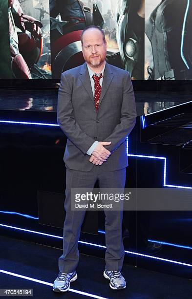 Director Joss Whedon attends the European premiere of 'The Avengers Age Of Ultron' at Westfield London on April 21 2015 in London England