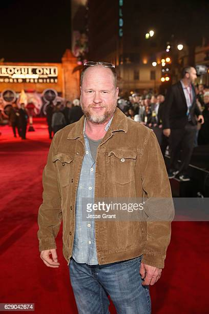 Director Joss Whedon attends The World Premiere of Lucasfilm's highly anticipated firstever standalone Star Wars adventure 'Rogue One A Star Wars...