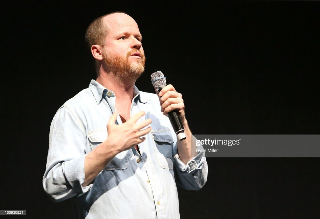 Director <a gi-track='captionPersonalityLinkClicked' href=/galleries/search?phrase=Joss+Whedon&family=editorial&specificpeople=2212235 ng-click='$event.stopPropagation()'>Joss Whedon</a> speaks during a Lionsgate Motion Picture Group presentation to promote the upcoming film 'Much Ado About Nothing' at the Lionsgate CinemaCon Press Conference Invitational : An Exclusive Product Presentation Highlighting Its 2013 Release Schedule at Caesars Palace during CinemaCon, the official convention of the National Association of Theatre Owners on April 18, 2013 in Las Vegas, Nevada.