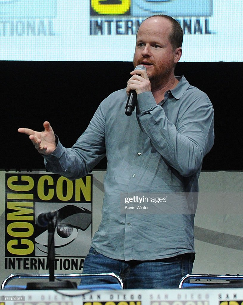 Director Joss Whedon speaks onstage at Marvel Studios 'Thor: The Dark World' and 'Captain America: The Winter Soldier' during Comic-Con International 2013 at San Diego Convention Center on July 20, 2013 in San Diego, California.
