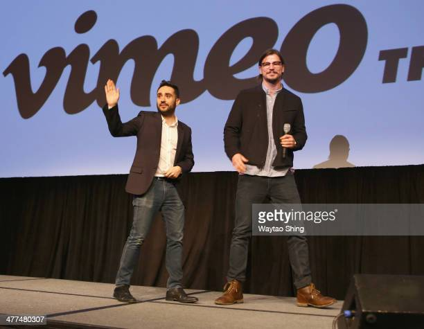 Director Juan Antonio Bayona and actor Josh Hartnett speak onstage at 'Penny Dreadful' during the 2014 SXSW Music Film Interactive Festival at Austin...