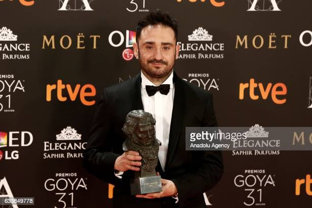 Director Juan Antonio Bayona receives best director award with the movie 'Un monstrou viene a verme' during the 31th edition of the Goya Awards...