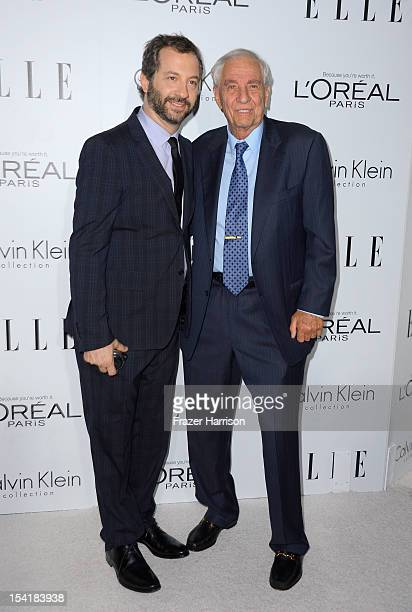 Director Judd Apatow and actor Garry Marshall arrive at ELLE's 19th Annual Women In Hollywood Celebration at the Four Seasons Hotel on October 15...