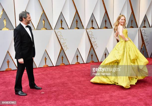 Director Judd Apatow and actor Leslie Mann attend the 89th Annual Academy Awards at Hollywood Highland Center on February 26 2017 in Hollywood...