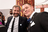 Director Judd Apatow and host John Cena attend the 2016 ESPYS at Microsoft Theater on July 13 2016 in Los Angeles California