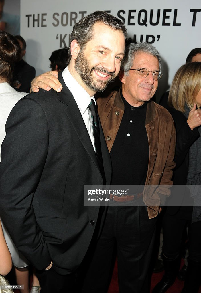Director Judd Apatow and Universal Studios President and CEO Ron Meyer attend the premiere of Universal Pictures' 'This Is 40' at Grauman's Chinese Theatre on December 12, 2012 in Hollywood, California.