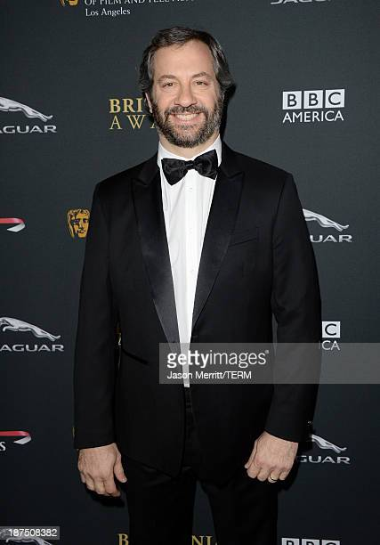 Director Judd Apatow attends the 2013 BAFTA LA Jaguar Britannia Awards presented by BBC America at The Beverly Hilton Hotel on November 9 2013 in...