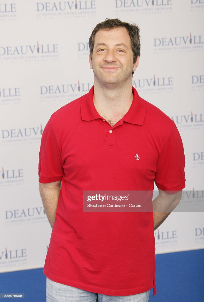 Director Judd Apatow poses at 'The 40 Year-Old Virgin' photocall during the 31st American Deauville Film Festival.