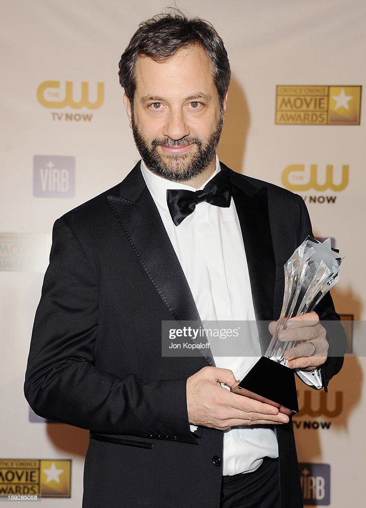 Director Judd Apatow poses in the press room at the 18th Annual Critics' Choice Movie Awards at Barker Hangar on January 10, 2013 in Santa Monica, California.