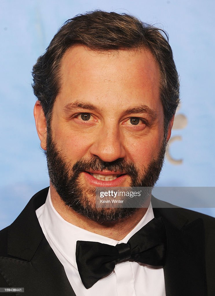 Director Judd Apatow poses in the press room during the 70th Annual Golden Globe Awards held at The Beverly Hilton Hotel on January 13, 2013 in Beverly Hills, California.