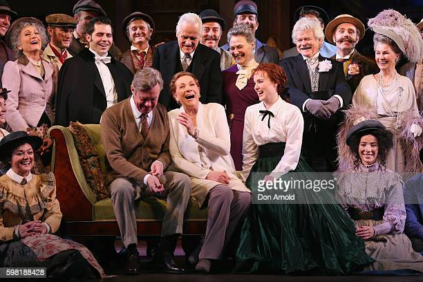 Director Julie Andrews shares a laugh amongst principal cast members during the My Fair Lady Production Media Call at Sydney Opera House on September...