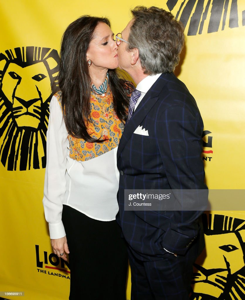 Director Julie Taymor and producer Thomas Schumacher attend the afterparty for 'The Lion King' Broadway 15th Anniversary Celebration at Minskoff Theatre on November 18, 2012 in New York City.