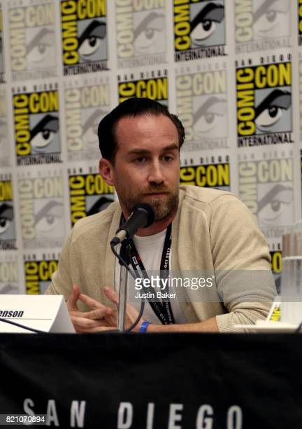 Director Justin Benson attends the Bold Voice of Contemporary Horror Panel at the 2017 ComicCon International on July 22 2017 in San Diego California