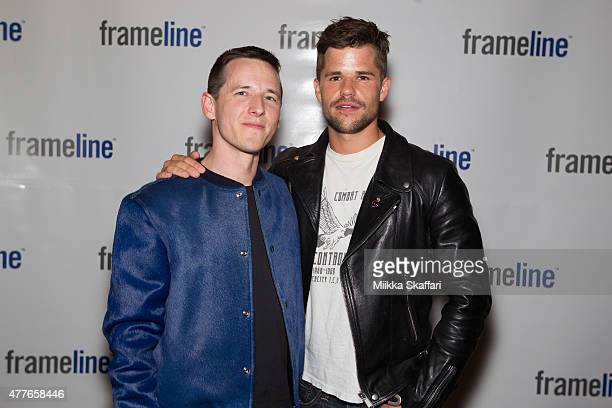 Director Justin Kelly and actor Charlie Carver arrive at special screening of 'I am Michael' at Frameline39 Film Festival at Castro Theater on June...