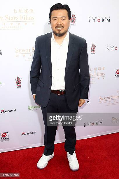 Director Justin Lin is honored with hand/footprint ceremony during the 88th Birthday Commemoration Of TCL Chinese Theatre IMAX at the TCL Chinese...