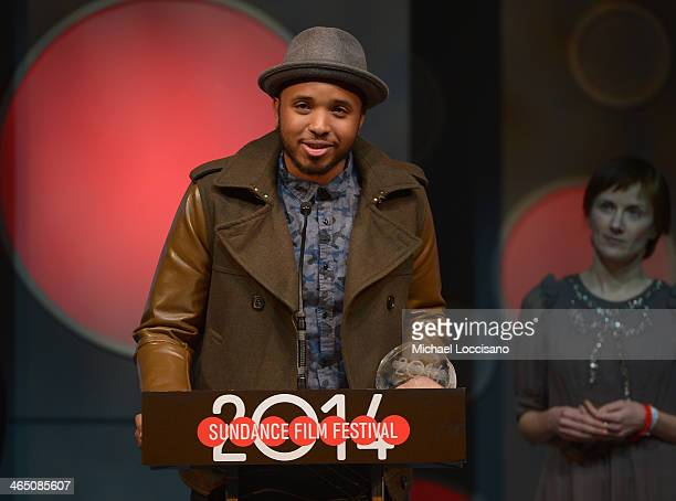 Director Justin Simien accepts the US Dramatic Special Jury Award for Breakthrough Talent for the film 'Dear White People' onstage at the Awards...