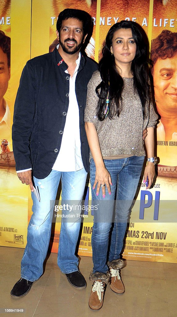 Director Kabir Khan with actor Mini Mathur during the special screening of 'Life of PI' movie at PVR Juhu on November 21, 2012, in Mumbai, India. The film opens on November 13, 2012.