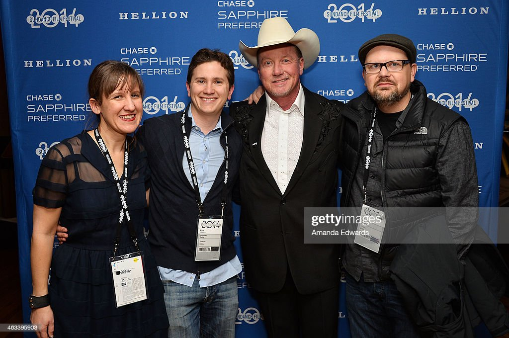Director Kat Candler, producer Jonathan Duffy, actor Walt Roberts and producer David Hansen arrive at the 'Hellion' premiere party at Chase Sapphire on January 17, 2014 in Park City, Utah.