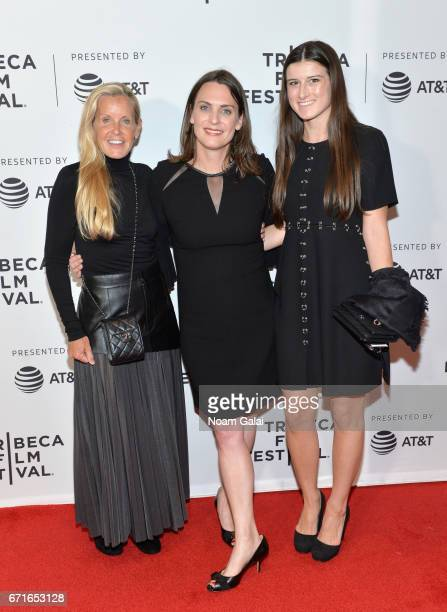 Director Kate Brooks poses with guests at 'The Last Animals' Premiere during 2017 Tribeca Film Festival at Cinepolis Chelsea on April 22 2017 in New...