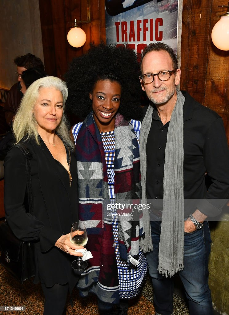 Director Kate Davis, subject of documentary Breaion King and producer David Heilbroner attend post screening reception for DOC NYC Premiere of the HBO documentary film 'Traffic Stop' at Tertulia on November 14, 2017 in New York City.