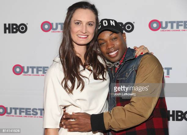 Director Katherine Fairfax Wright and producer/musician Todrick Hall attend the 2017 Outfest Los Angeles LGBT Film Festival Screening of 'Behind The...