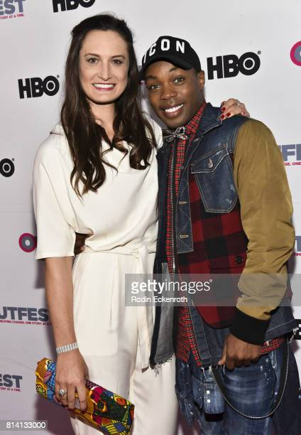 Director Katherine Fairfax Wright and singer/choreographer Todrick Hall attends the 2017 Outfest Los Angeles LGBT Film Festival centerpiece screening...