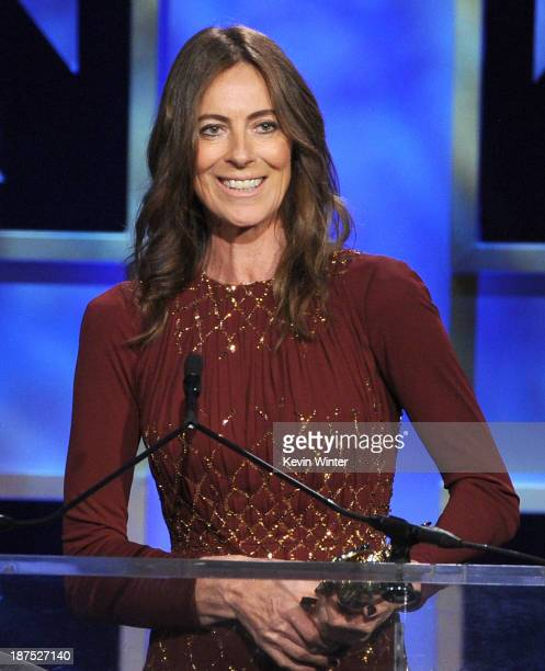 Director Kathryn Bigelow accepts the John Schlesinger Britannia Award for Excellence in Directing at the 2013 BAFTA LA Jaguar Britannia Awards...