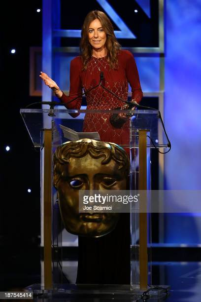Director Kathryn Bigelow accepts the John Schlesinger Britannia Award for Excellence in Directing at the BAFTA Los Angeles Britannia Awards at The...