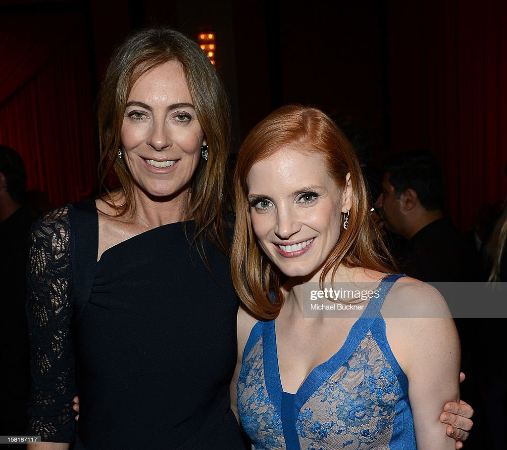 Director <a gi-track='captionPersonalityLinkClicked' href=/galleries/search?phrase=Kathryn+Bigelow&family=editorial&specificpeople=1278119 ng-click='$event.stopPropagation()'>Kathryn Bigelow</a> (L) and actress <a gi-track='captionPersonalityLinkClicked' href=/galleries/search?phrase=Jessica+Chastain&family=editorial&specificpeople=653192 ng-click='$event.stopPropagation()'>Jessica Chastain</a> attend the after party for the premiere of Columbia Pictures' 'Zero Dark Thirty' at the Dolby Theatre on December 10, 2012 in Hollywood, California.