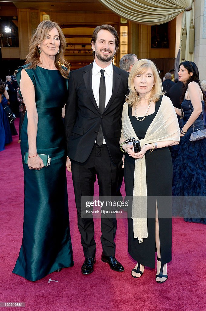 Director Kathryn Bigelow and Mark Boal arrive at the Oscars at Hollywood & Highland Center on February 24, 2013 in Hollywood, California.