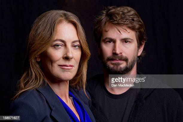 Director Kathryn Bigelow and screenwriter Mark Boal are photographed for USA Today on December 13 2012 in Beverly Hills California