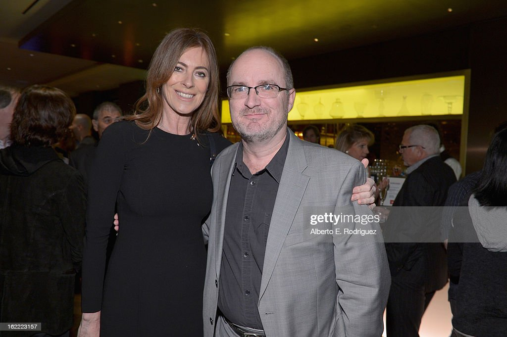 Director <a gi-track='captionPersonalityLinkClicked' href=/galleries/search?phrase=Kathryn+Bigelow&family=editorial&specificpeople=1278119 ng-click='$event.stopPropagation()'>Kathryn Bigelow</a> and Steve Pond, Awards Editor for TheWrap attend TheWrap 4th Annual Pre-Oscar Party at Four Seasons Hotel Los Angeles at Beverly Hills on February 20, 2013 in Beverly Hills, California.