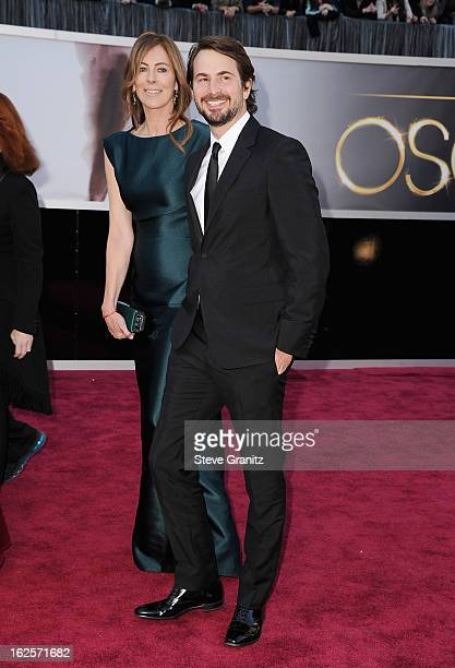 Director Kathryn Bigelow and writer Mark Boal arrive at the Oscars at Hollywood Highland Center on February 24 2013 in Hollywood California