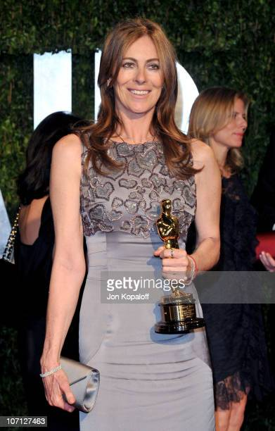 Director Kathryn Bigelow arrives at the 2010 Vanity Fair Oscar Party held at Sunset Tower on March 7 2010 in West Hollywood California