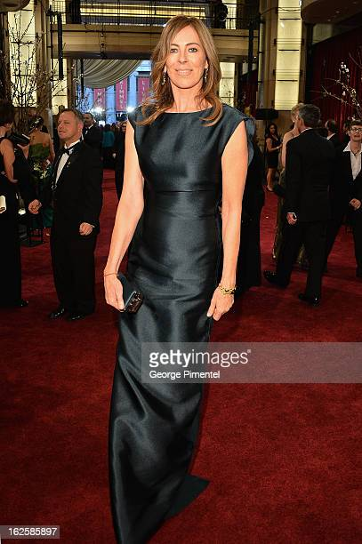 Director Kathryn Bigelow arrives at the Oscars at Hollywood Highland Center on February 24 2013 in Hollywood California