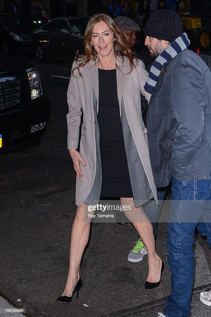 Director <a gi-track='captionPersonalityLinkClicked' href=/galleries/search?phrase=Kathryn+Bigelow&family=editorial&specificpeople=1278119 ng-click='$event.stopPropagation()'>Kathryn Bigelow</a> enters the 'Late Show With David Letterman' taping at the Ed Sullivan Theater on January 9, 2013 in New York City.