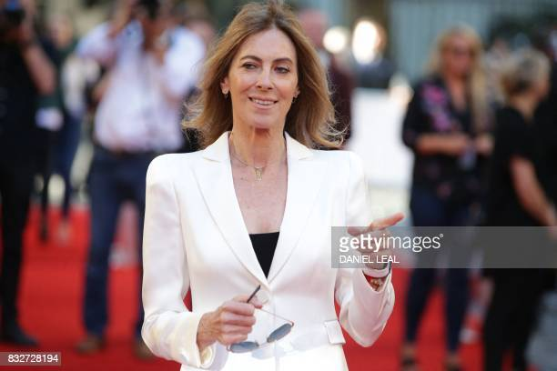 US director Kathryn Bigelow poses for a photograph upon arrival at the European premiere of 'Detroit' in London on August 16 2017 / AFP PHOTO /...