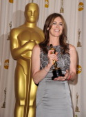 Director Kathryn Bigelow poses in the press room at the 82nd Annual Academy Awards held at the Kodak Theatre on March 7 2010 in Hollywood California...