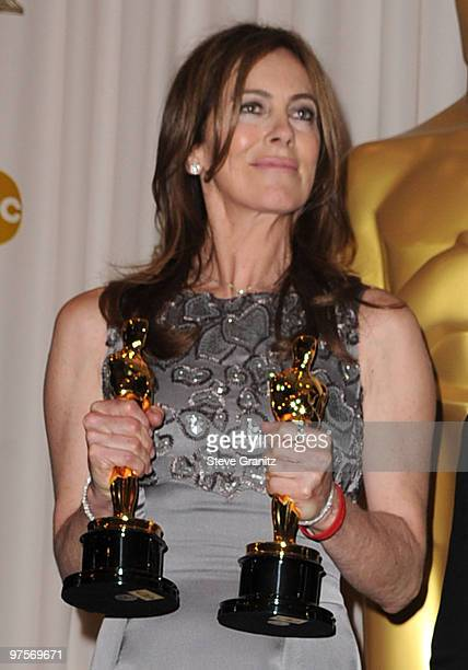 Director Kathryn Bigelow poses in the press room at the 82nd Annual Academy Awards held at the Kodak Theatre on March 7 2010 in Hollywood California