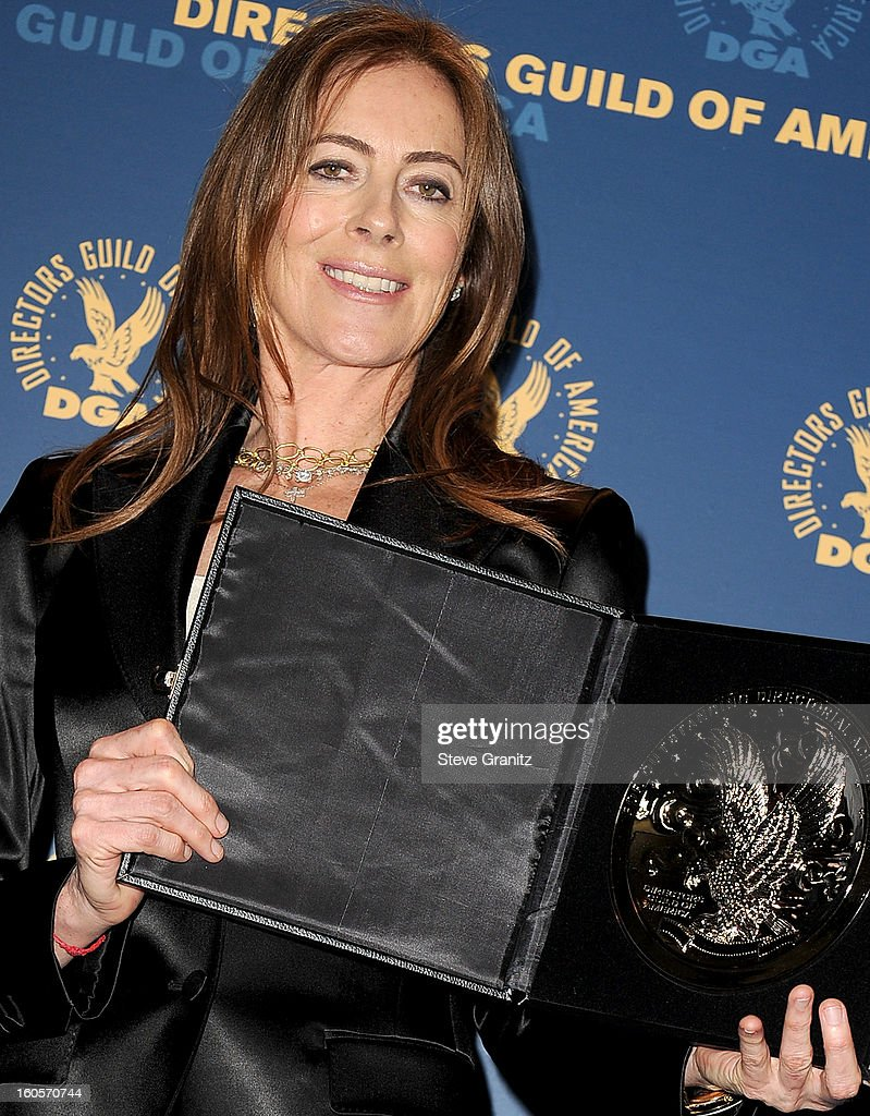 Director Kathryn Bigelow, recipient of the Feature Film Nomination Plaque for ?Zero Dark Thirty,' poses in the press room at the 65th Annual Directors Guild Of America Awards at The Ray Dolby Ballroom at Hollywood & Highland Center on February 2, 2013 in Hollywood, California.