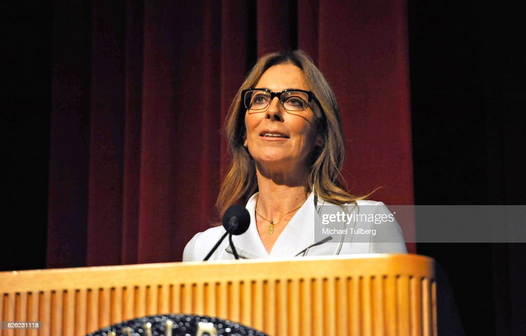 Director Kathryn Bigelow speaks at a special screening of 'Detroit' hosted by Annapurna Pictures at the Directors Guild of America on August 3, 2017 in Los Angeles, California.