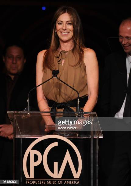 Director Kathryn Bigelow speaks onstage 2010 Producers Guild Awards held at Hollywood Palladium on January 24 2010 in Hollywood California
