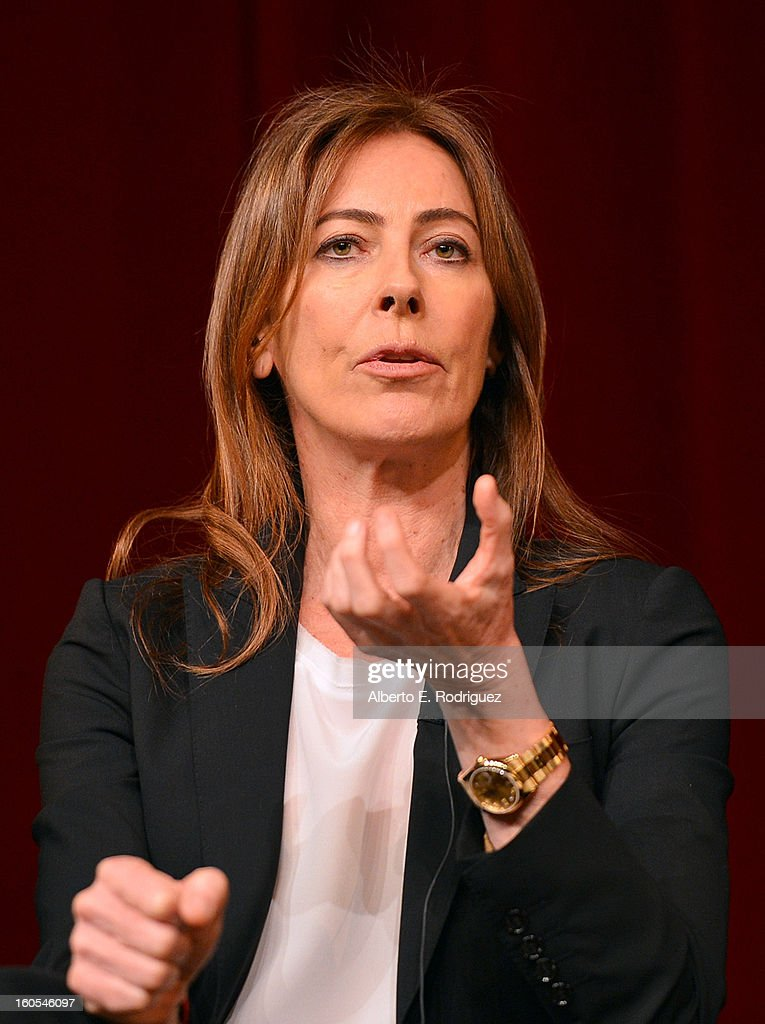 Director Kathryn Bigelow speaks onstage at the 65th Annual Directors Guild of America Awards Feature Film Symposium held at the DGA on February 2, 2013 in Los Angeles, California.