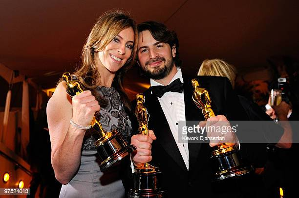 Director Kathryn Bigelow winner of Best Director award for 'The Hurt Locker' and screenwriter Mark Boal winner of Best Original Screenplay award for...