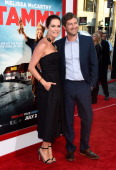 Director Katie Aselton and actor Mark Duplass attend the premiere of Warner Bros Pictures' 'Tammy' at TCL Chinese Theatre on June 30 2014 in...