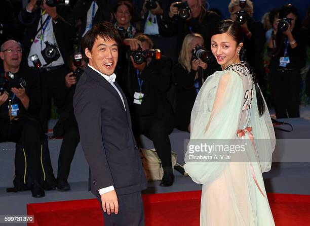 Director Kei Ishikawa and actress Hikari Mitsushima of the cast of 'Traces Of Sin' attends the premiere of 'The Bad Batch' during the 73rd Venice...