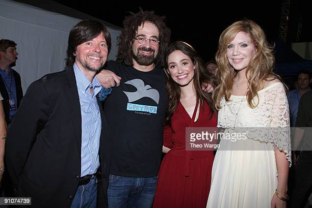 Director Ken Burns musician Adam Duritz of Counting Crows actress/singer Emmy Rossum and singer Alison Krauss attend a National Parks celebration...